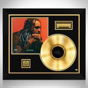 Post Malone Stoney Gold LP Limited Signature Edition Studio Licensed Custom Frame