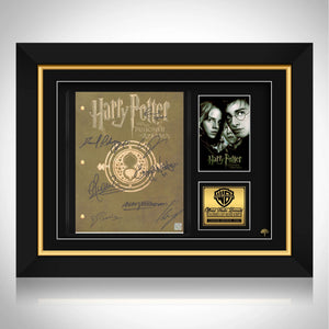 Harry Potter and the Prisoner Of Azkaban Script Limited Signature Edition Custom Frame