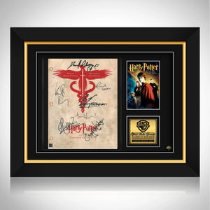 Harry Potter Chamber Of Secrets Movie Script Limited Signature Edition Licensed Custom Frame
