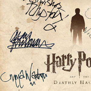Harry Potter Deathly Hallows (Beige) Limited Signature Edition Studio Licensed Script Custom Frame