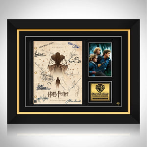 Harry Potter-Deathly Hallows (Beige)  Limited Signature Edition Studio Licensed Script Custom Frame