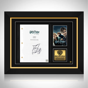 Harry Potter and the Deathly Hallows Limited Signature Edition Studio Licensed Script Custom Frame