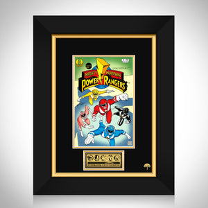 Mighty Morphin Power Rangers #1 Limited Signature Edition Comic Book Cover Art Custom Frame