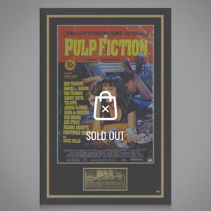 Pulp Fiction- Cast Hand-Signed Theatrical Release Poster Custom Frame.