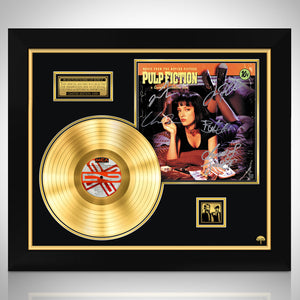 Pulp Fiction 'Soundtrack' Limited Edition Signature Series Gold Lp Custom Frame