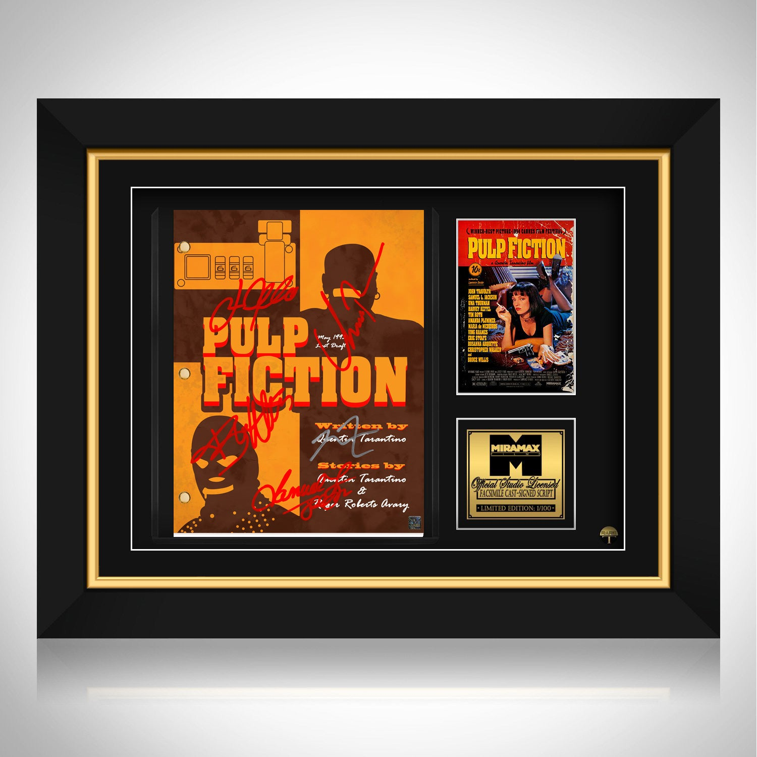 Pulp Fiction Script Limited Signature Edition Studio Licensed Custom F Rare T