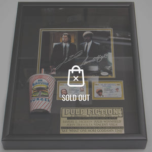 Pulp Fiction Hand-Signed By John Travolta & Samuel L. Jackson Rare-T Exclusive Custom Shadow Box