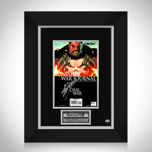 The Punisher 'War Journal' (2007) #1 Hand-Signed Comic Book By Matt Fraction & Stan Lee Custom Frame
