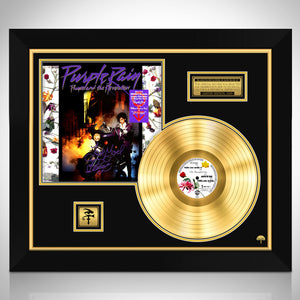 Prince Purple Rain Gold LP Limited Signature Edition Studio Licensed Custom Frame