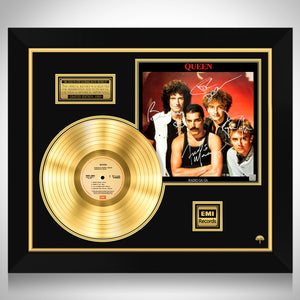 Queen Radio Gaga Gold LP Limited Signature Edition Studio Licensed Custom Frame
