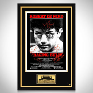 Raging Bull- Cast Hand-Signed Movie Theatrical Release Poster Custom Frame