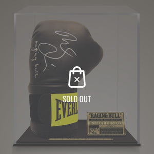 Raging Bull - Hand-Signed Boxing Glove By Robert De Niro Museum Display