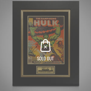 Hulk - Rampaging Hulk #1 Hand-Signed By Stan Lee Custom Frame
