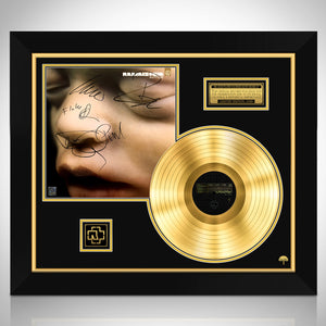 Rammstein - Mutter Limited Signature Edition Licensed Gold LP Custom Frame