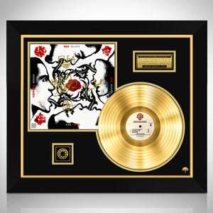 Red Hot Chili Peppers Blood Sugar Sex Magik Limited Signature Edition Licensed Gold LP Custom Frame