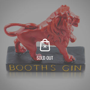 Booth'S Gin - Red Lion Original Antique Chalkware Bar Display/Advertisement