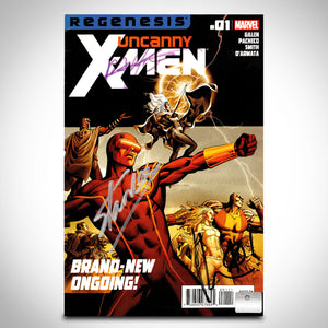Uncanny X-Men (2012) #1 Hand-Signed Comic By Kieron Gillen, Carlos Pacheco & Stan Lee Custom Frame
