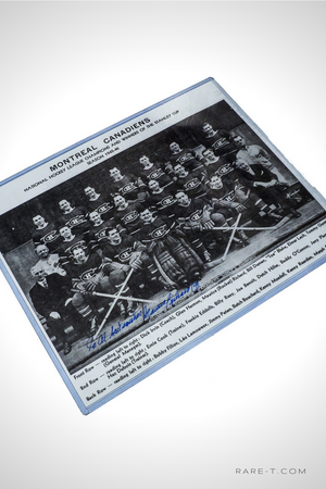 Handsigned MONTREAL CANADIENS 'MAURICE RICHARD' 11x7 Black and White