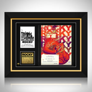 Rocky - Hand-Signed Script By Cast Members  Custom Frame