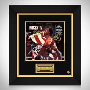 Rocky IV Movie Soundtrack LP Cover Limited Signature Edition Studio Licensed  Custom Frame