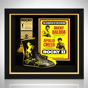 Rocky - Psa/Dna Certified Hand-Signed Boxing Boot By Sylvester Stallone Custom Frame - RARE-T