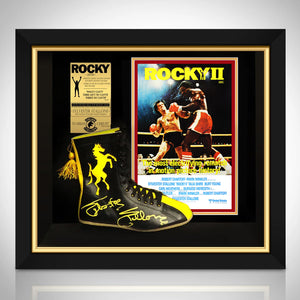 Rocky - Psa/Dna Certified Hand-Signed Boxing Boot By Sylvester Stallone Custom Frame B