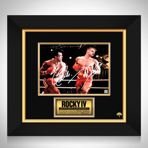 Rocky IV Rocky vs Drago Photo Limited Signature Edition Studio Licensed Custom Frame
