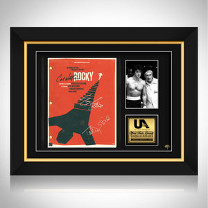 Rocky Script Limited Signature Edition Studio Licensed Custom Frame