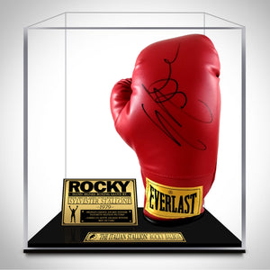 Rocky- Hand-Signed Glove By Sylvester Stallone Custom Museum Display.