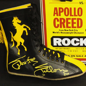 Rocky - Psa/Dna Certified Hand-Signed Boxing Boot By Sylvester Stallone Custom Frame