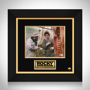 Rocky - Beckett Certified Hand-Signed Photo By Burt Young Custom Frame