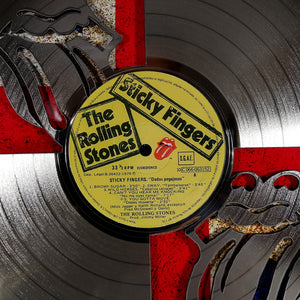 The Rolling Stones 'Sticky Fingers' Limited Edition Studio Licensed Laser Cut Gold Lp Custom Frame