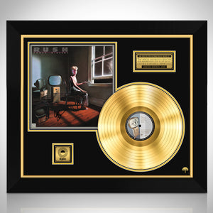 Rush 'Power Windows' Neil Peart- Limited Signature Edition Studio Licensed Gold LP Custom Frame