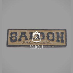Distressed Wooden 'Wild West Style Saloon' Bar/Tavern/Pub Sign