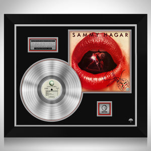 Sammy Hagar Three Lock Box Limited Signature Edition Studio Licensed Platinum LP Custom Frame