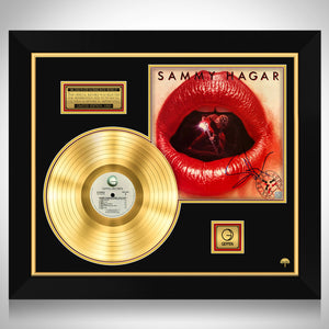 Sammy Hagar Three Lock Box Limited Signature Edition Studio Licensed Gold LP Custom Frame