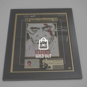 Scarface Hand-Signed By Al Pacino Rare-T Exclusive Custom Frame