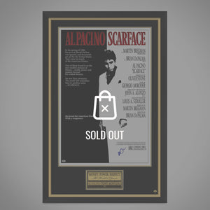 Scarface- Psa/Dna Witnessed Certified Hand-Signed Original Vintage Poster By Al Pacino Custom Frame