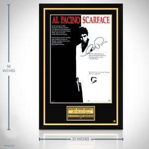 Scarface-  Hand-Signed 1983 Theatrical Release Poster by Al Pacino Custom Frame
