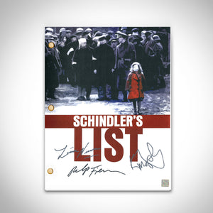 Schindler's List- Limited Signature Edition Studio Licensed Script Custom Frame