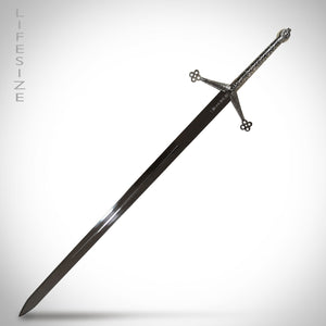 Two-Handed Scottish Highland Claymore Sword of Lordship Ornate Stainless Steel