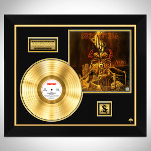 Sepultura Arise Limited Signature Edition Licensed Gold LP Custom Frame