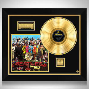 The Beatles - Sgt. Pepper's Lonely Hearts Club Band Gold LP Limited Signature Edition Studio Licensed Custom Frame