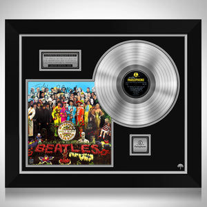 The Beatles - Sgt. Pepper's Lonely Hearts Club Band Platinum LP Limited Signature Edition Studio Licensed Custom Frame