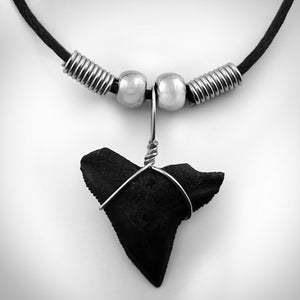 Shark Tooth Necklace - Fossilized Floridian Prehistoric Shark Tooth Necklace