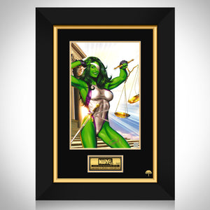 She Hulk- Hand-Signed Artwork Print By Artist Greg Horn Custom Frame