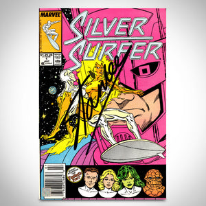 Silver Surfer- Vol 3 #1 July 1987 Hand-Signed Comic Book by Stan Lee Custom Frame