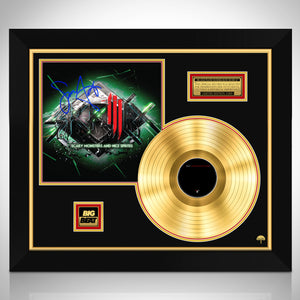 Skrillex Scary Monsters Limited Signature Edition Studio Licensed Gold LP Custom Frame