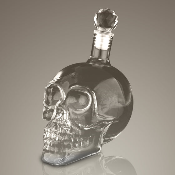 Skull Head 3D Spirit Glass Decanter