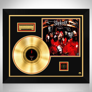 Slipknot Self titled Gold LP Limited Signature Edition Studio Licensed Custom Frame